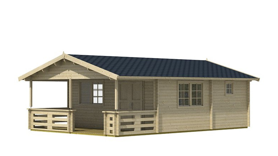 Tormeeco 17 ft 4 in x 27 ft 2 in Log cabin D.I.Y. Building kit