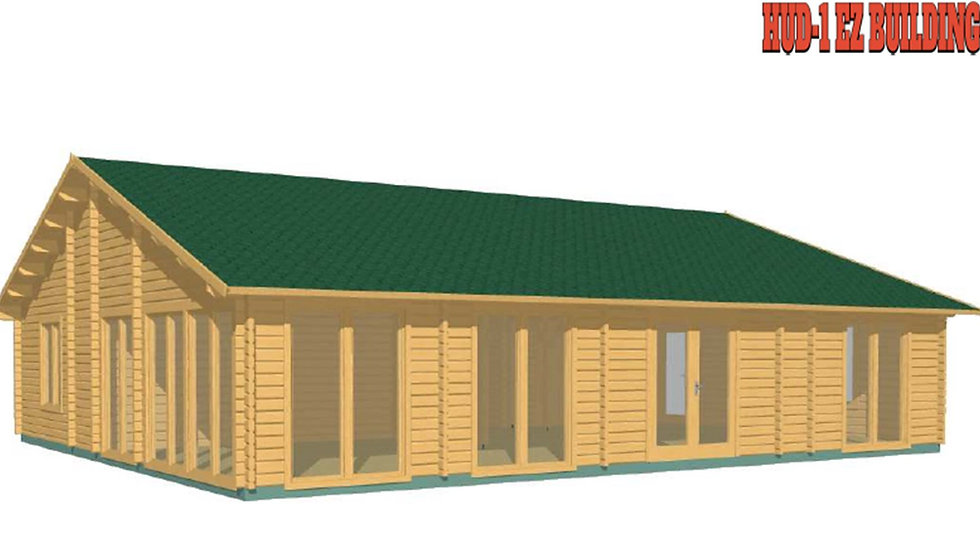 Ria JF68 1275 sq. ft. multi room D.I.Y log home building kit