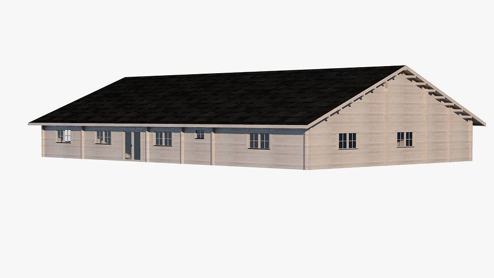 2600 sq. ft. Rancher Premium Log  Home D.I.Y.  Building kit