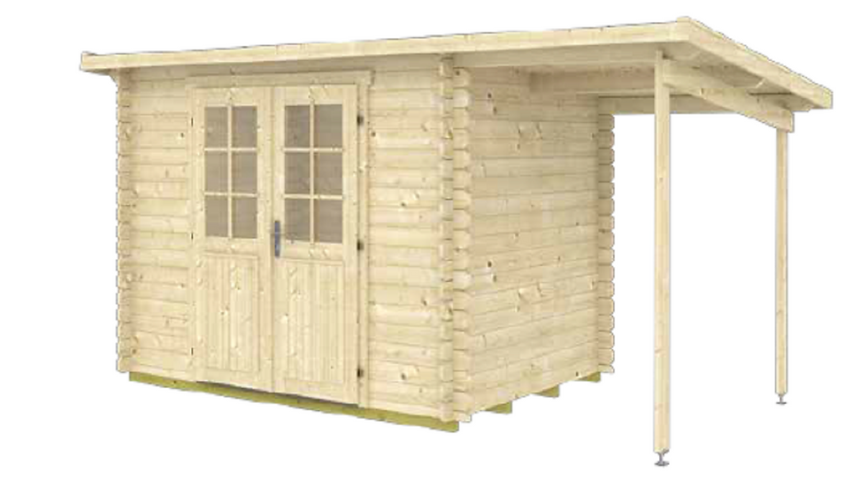 Gloria ASD 150 14 ft. 7 in. x 6 ft. 5 in. Log Garden House Storage Building Kit