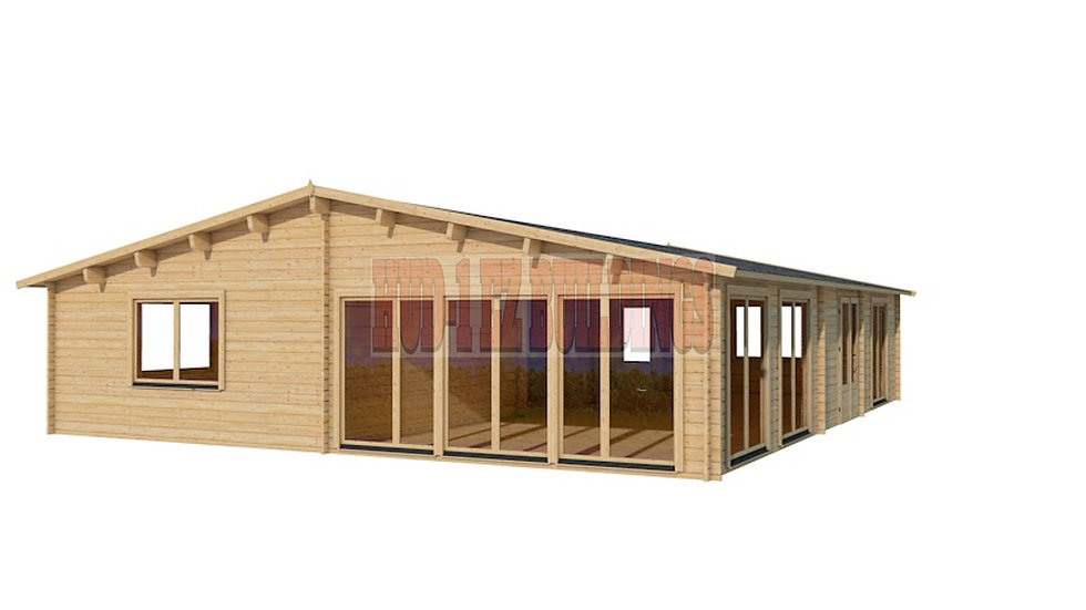 Victoria 44 1206 sq. ft. multi room D.I.Y log building kit