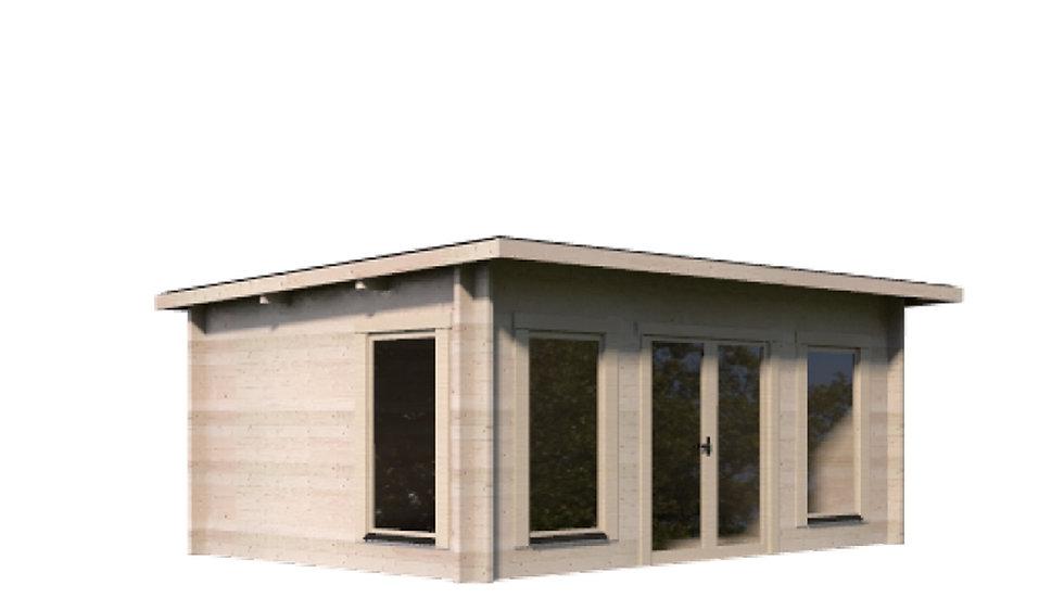 Kemp 15 ft. x 10 ft. Log Cabin Style Pool Garden House D.I.Y. building Kit