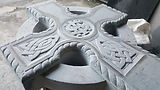 Hand carved celtic cross stonemason.