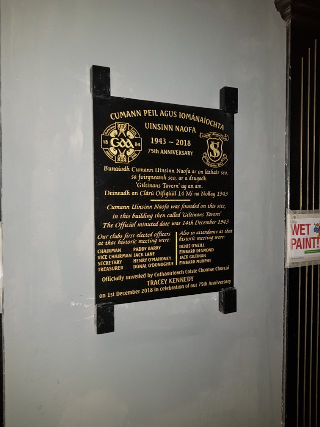 St Vincents GAA 75th Anniversary Wall Plaque