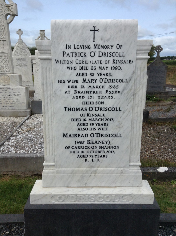 Headstone after cleaning.