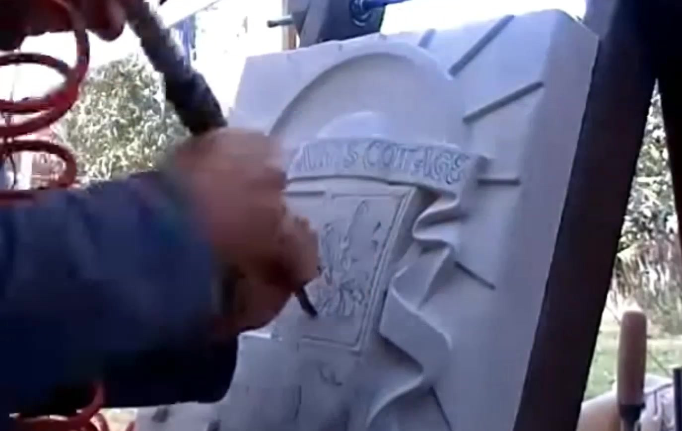 Carving and inscribing, Irish crafted Headstones.