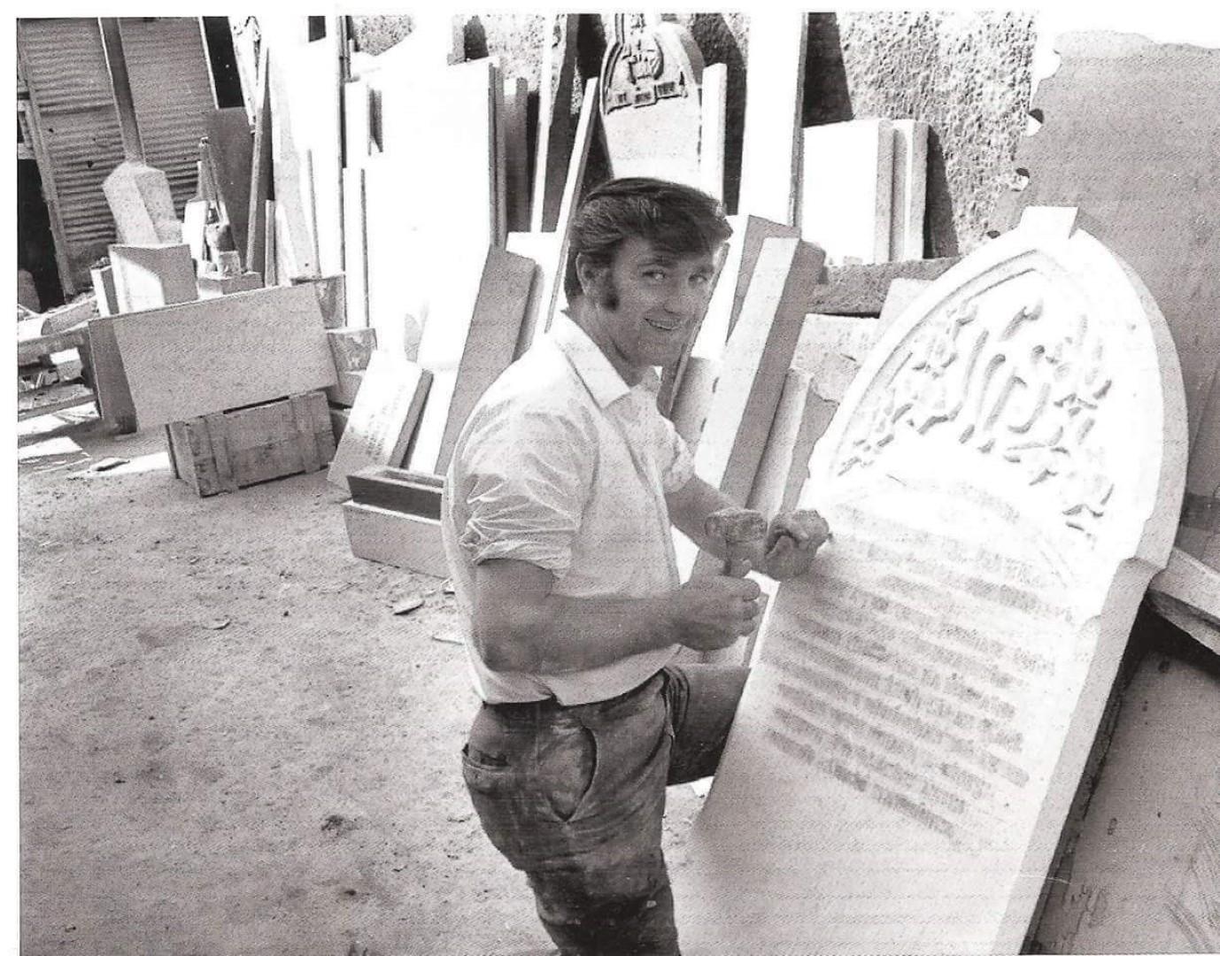 Gerald McCarthy in workshop.