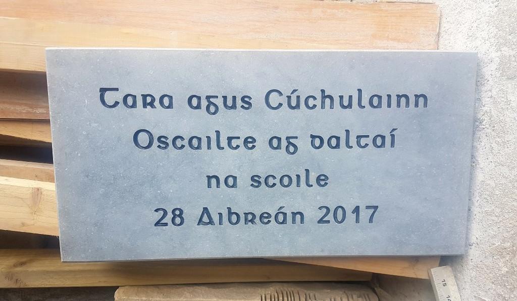 Irish Limestone Plaque