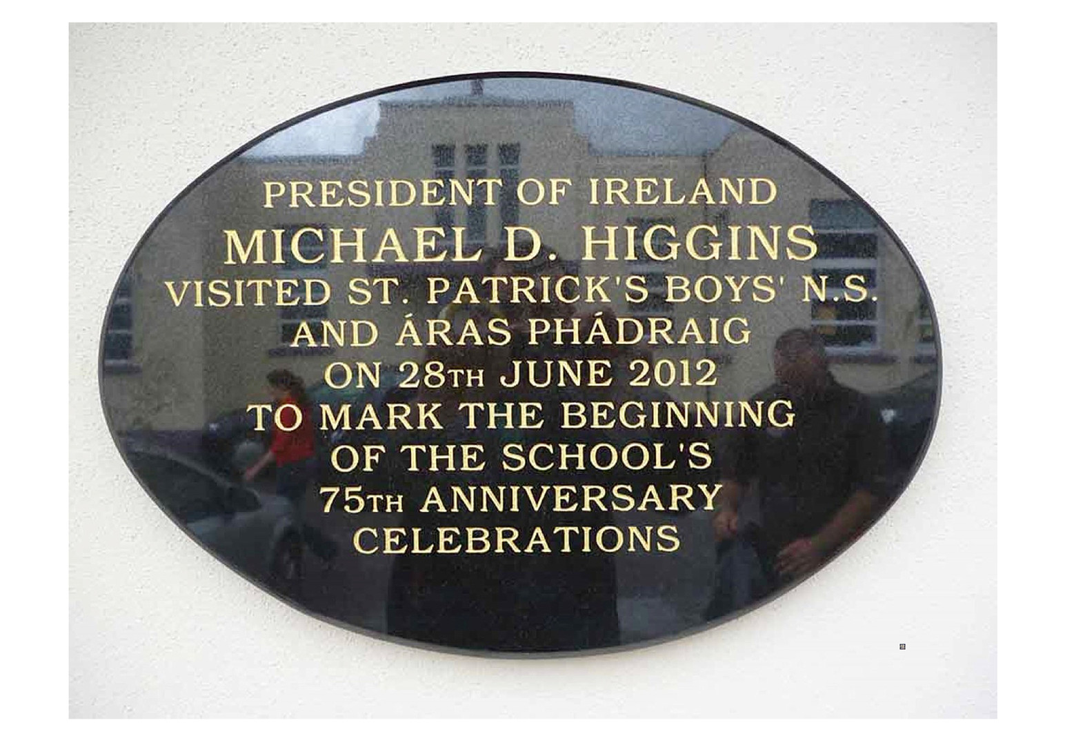 Plaque of President Micael D Higgans.jpg