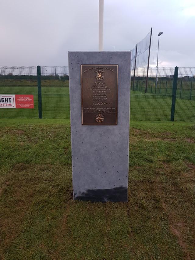 St Vincents GAA 75th Anniversary Stone