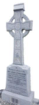Stone Memorial cross made by hand by a Headstone stonemason.