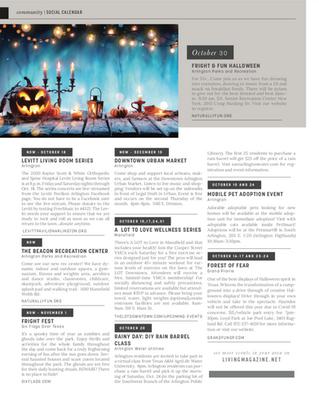 Social Calendar: October