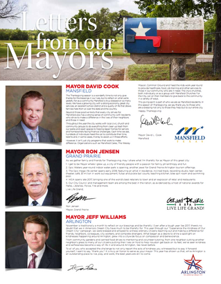 Letter From Our Mayors November