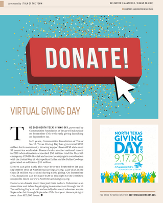 Talk Of The Town: North Texas Virtual Giving Day