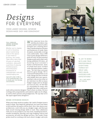 April Cover: Landry Designs