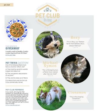 Living Pet Club: May