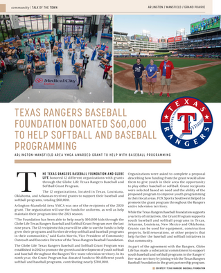 Talk Of The Town: Texas Rangers Baseball Foundation