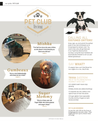 Living Pet Club: October