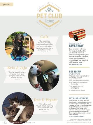 Living Pet Club: February
