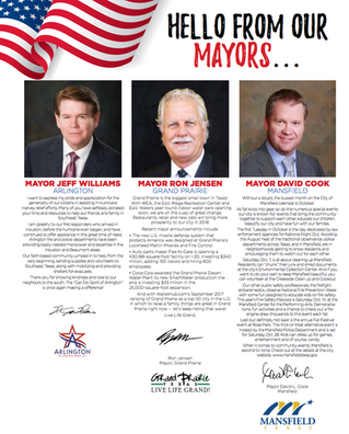 Hello From Our Mayors...
