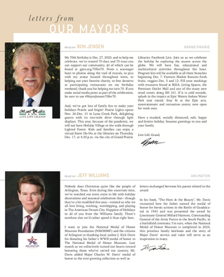 Letter From Our Mayors: December