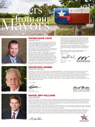 Letter From Our Mayors December