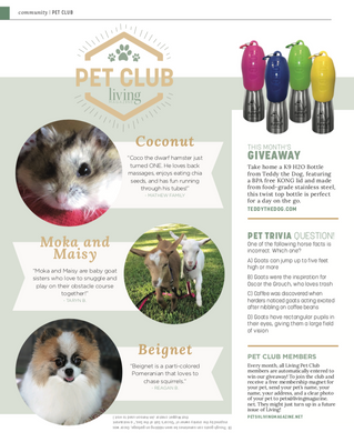 Living Pet Club: August