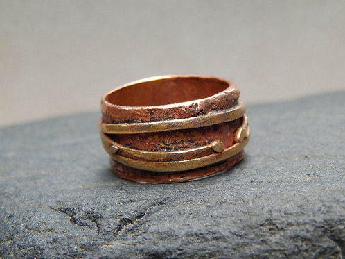 copper & jewelers bronze :  ring