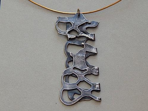 argentium sterling silver neckpiece