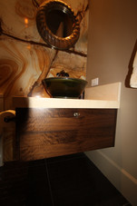 Floating Walnut Vanity.