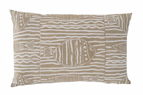 Fish Stripe, Sand, 60 x 40 cm