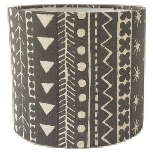 Maris Stripe, Soft Black, 20 cm drum lampshade