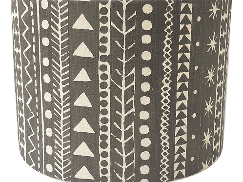 Maris Stripe, Soft Black, 30 cm drum lampshade