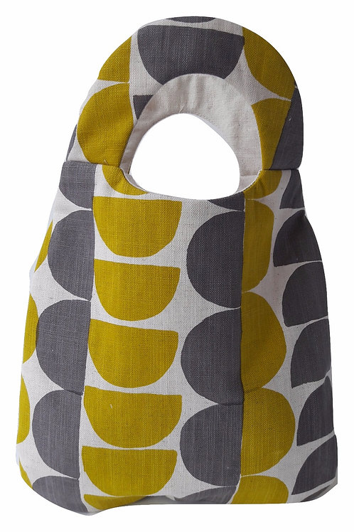 Belle Bag, Semicircle, Gorse Yellow and Mole Grey