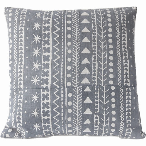 Maris Stripe, Slate Blue, 45 x 45 cm
