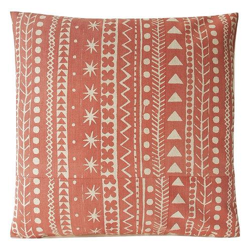 Maris Stripe, Venetian Red, 45 x 45 cm