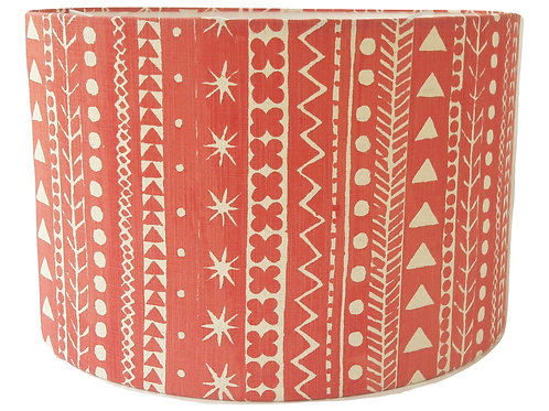 Maris Stripe, Venetian Red, 40 cm drum lampshade