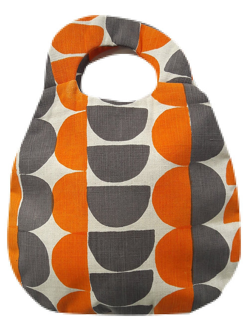 Belle Bag, Semicircle, Orange and Mole Grey