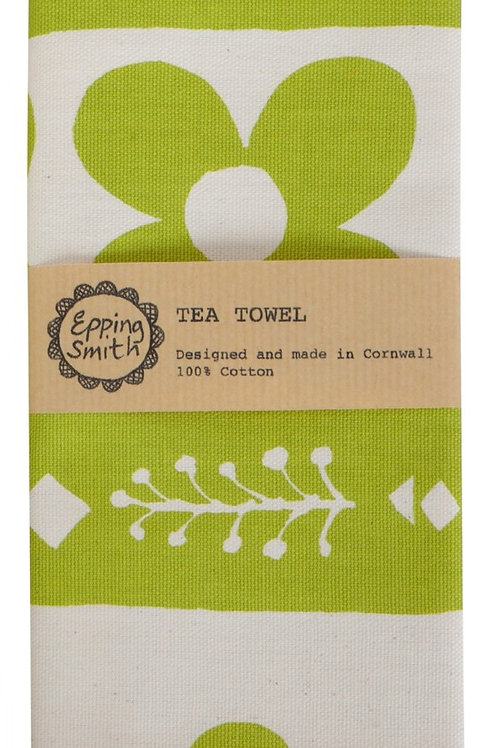 Tea Towel, Flora I, Lime Green