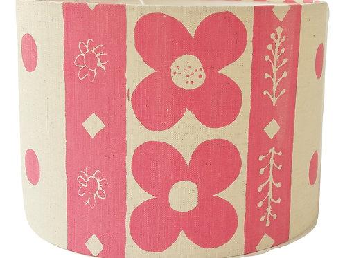 Flora I, Rose Pink, 30 cm drum lampshade