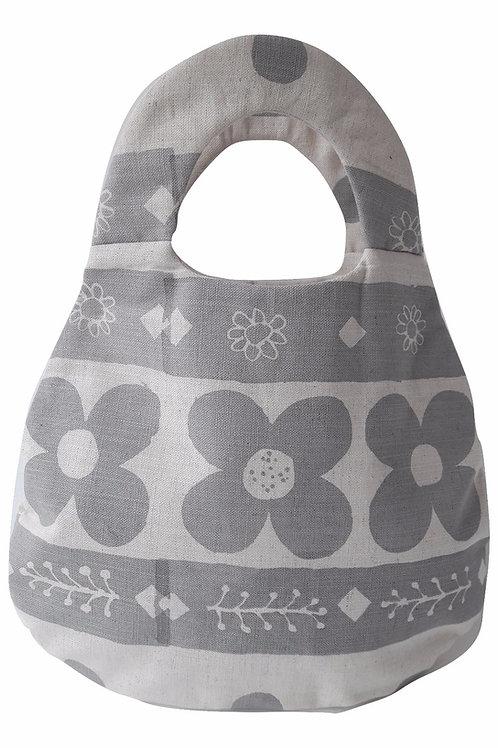 Belle Bag, Flora, Light Grey
