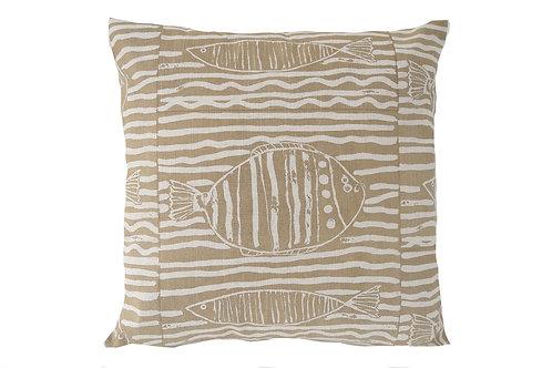 Fish Stripe, Sand, 45 x 45 cm