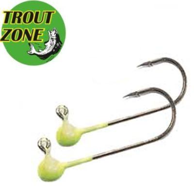 Джиг-головки Trout Zone Kumho #4 Chartreuse (5шт/уп)