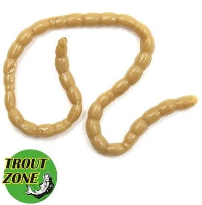 Мягкие приманки Trout Zone Blood Worms (70шт) косичка 10*7