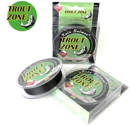 Шнур Trout Zone 4X Teflon PE Line Hybride 200m Grey