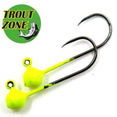 Джиг-головки Trout Zone Kumho BL #2 Chartreuse (5шт/уп)
