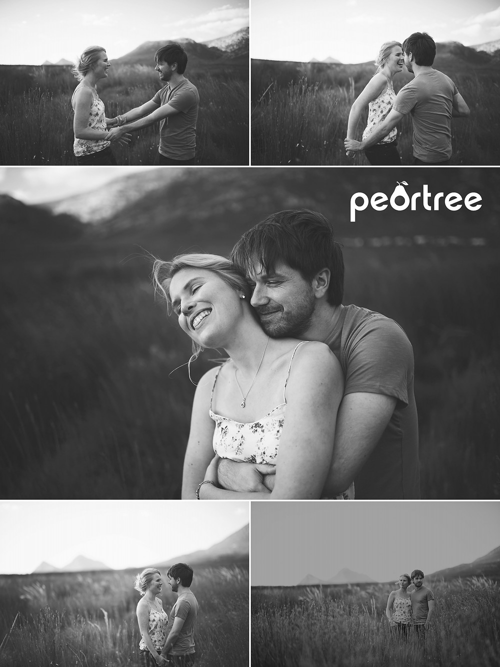 natural engagement shoot photos