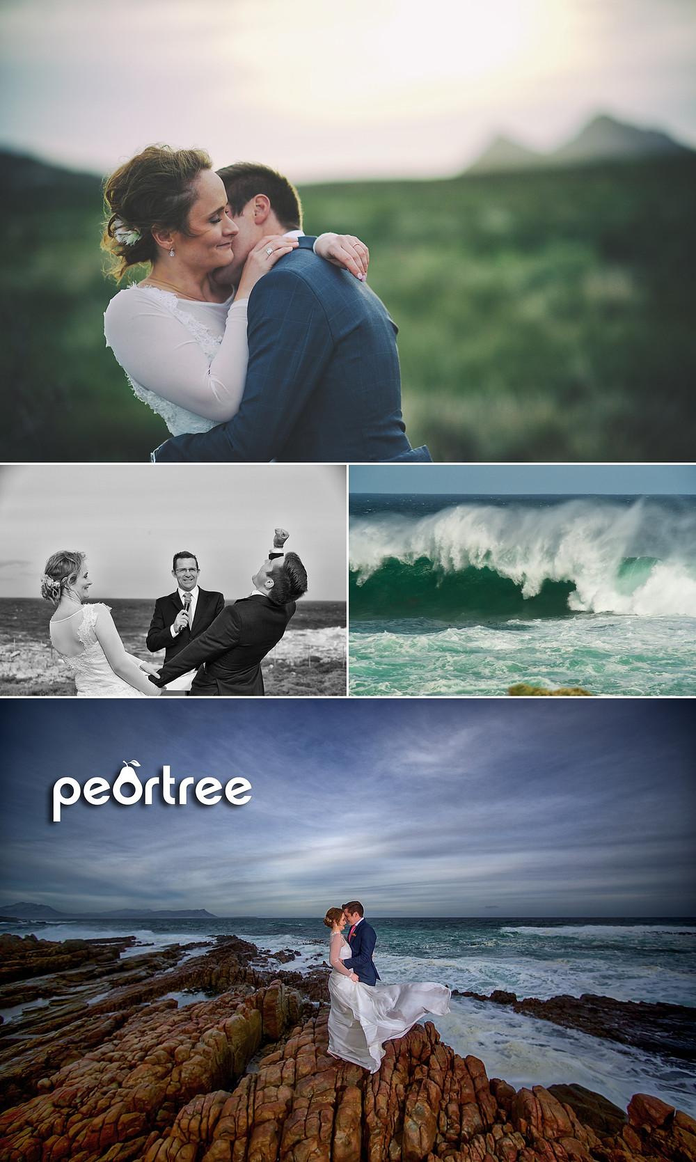 beachfront winter wedding