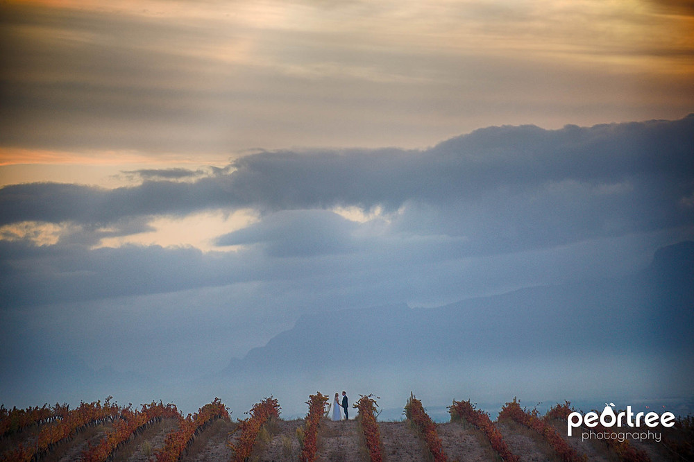 awesome autumn wedding  cape town