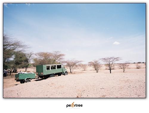 Taking a break in bandit zone on the way to Lodwar